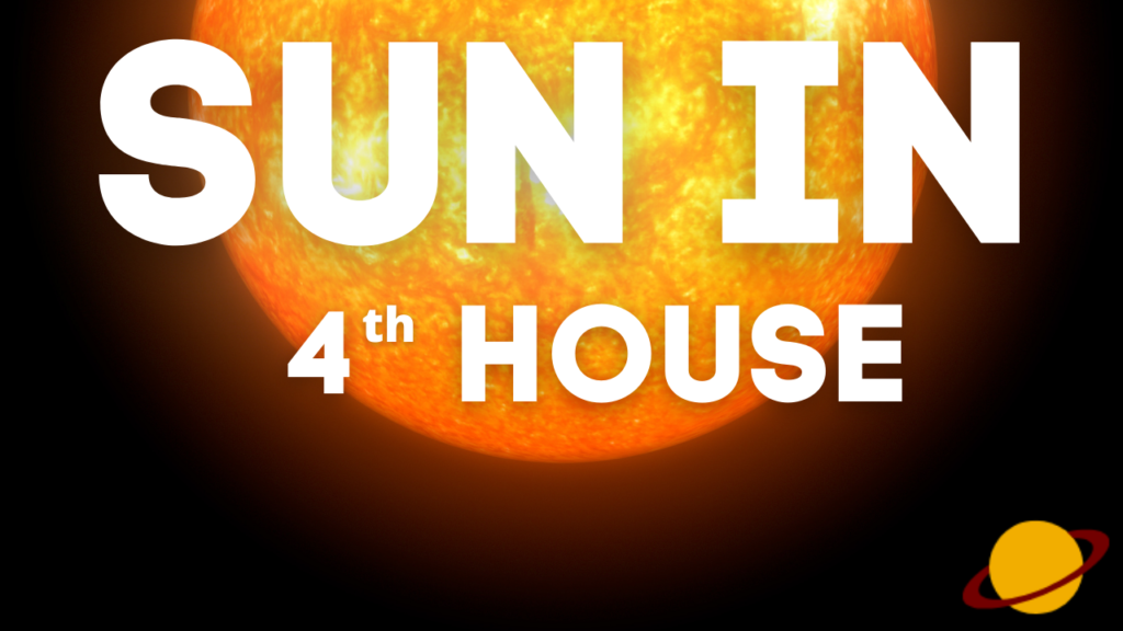 Effects of Sun placed in 4th house of birth chart